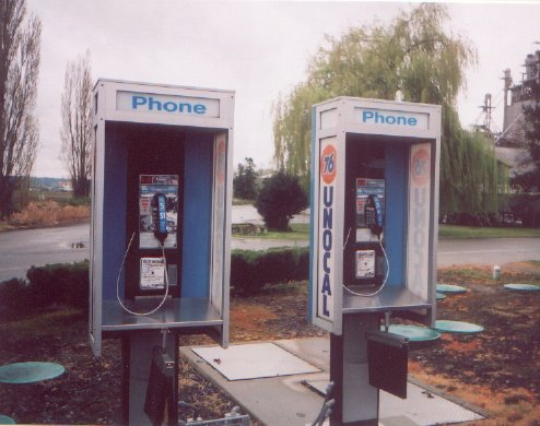 (2 pay phones)