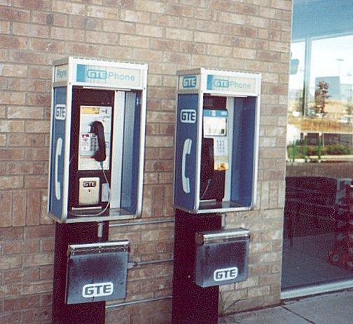 (2 pay phones)